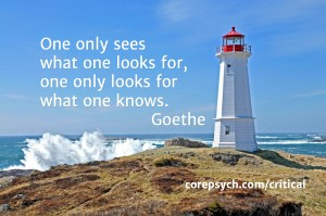 Goethe - evidence, details, seeing, knowing, critical thinking